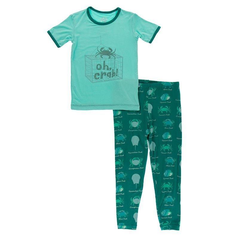 Ladies Oh Crab Bamboo Pajama Set by Kickee Pants