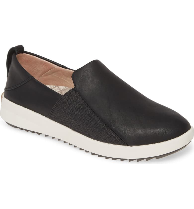 Women's Olukai Malua Slip On Sneaker Black Leather