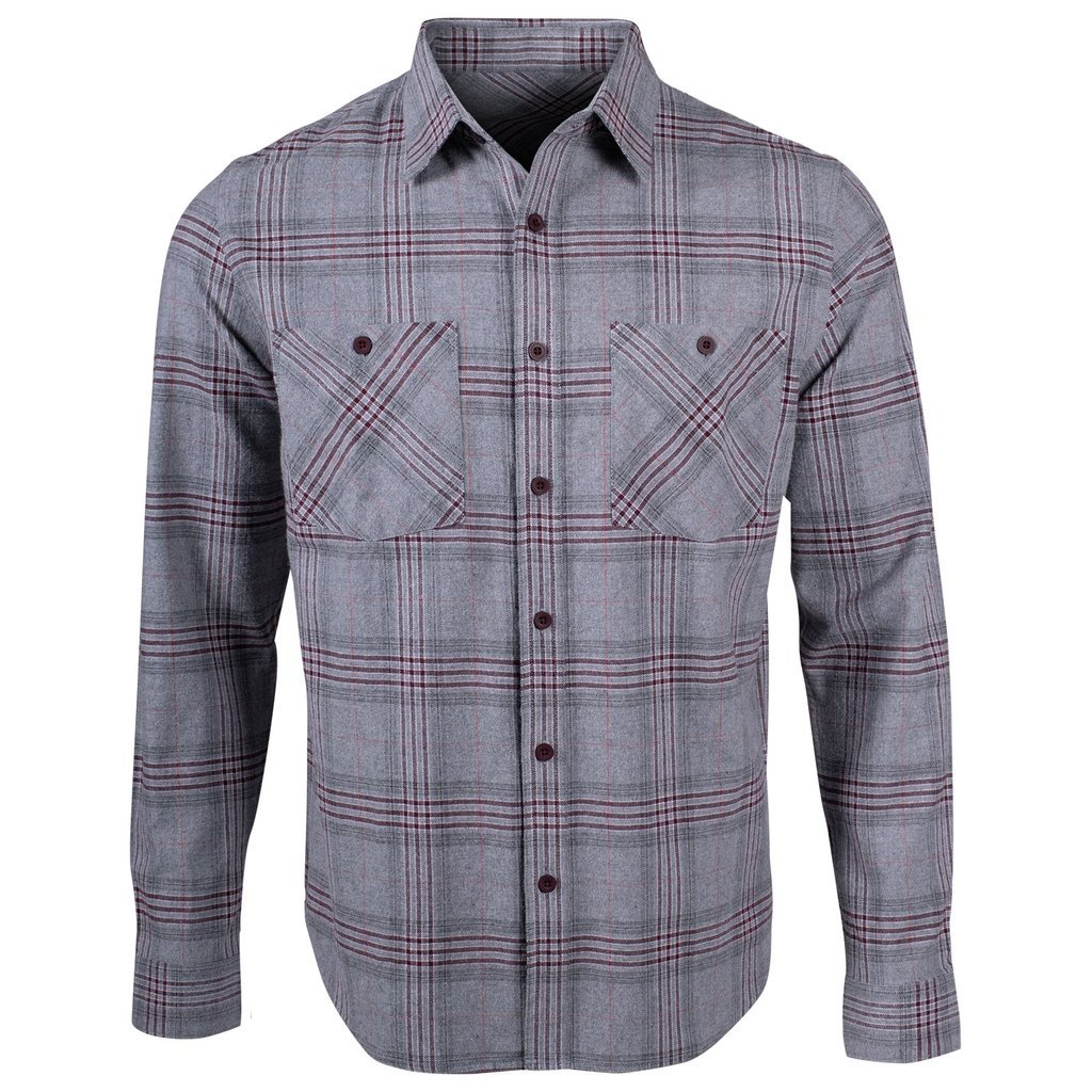 M's Owen Flannel Shirt in Heather Grey by Mountain Khaki
