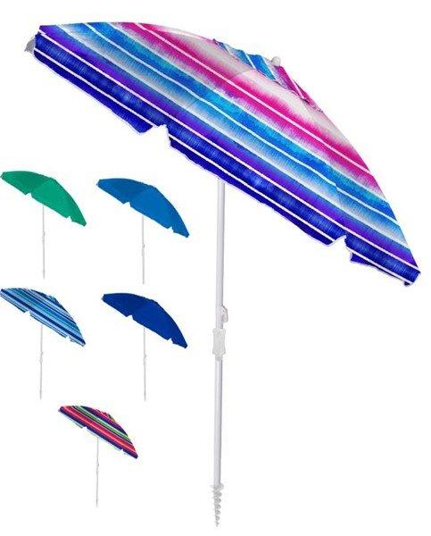 6' Oxford Vent Umbrella with Anchor Pole UPF 50+