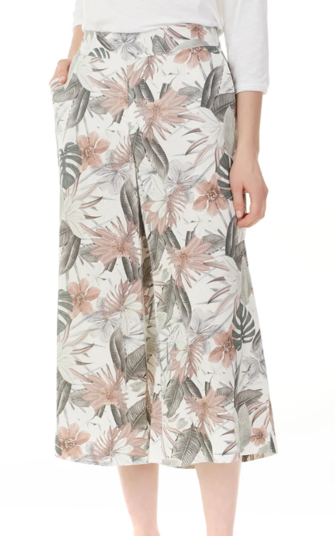 Tropical Linen Palazzo Pant by Charlie B