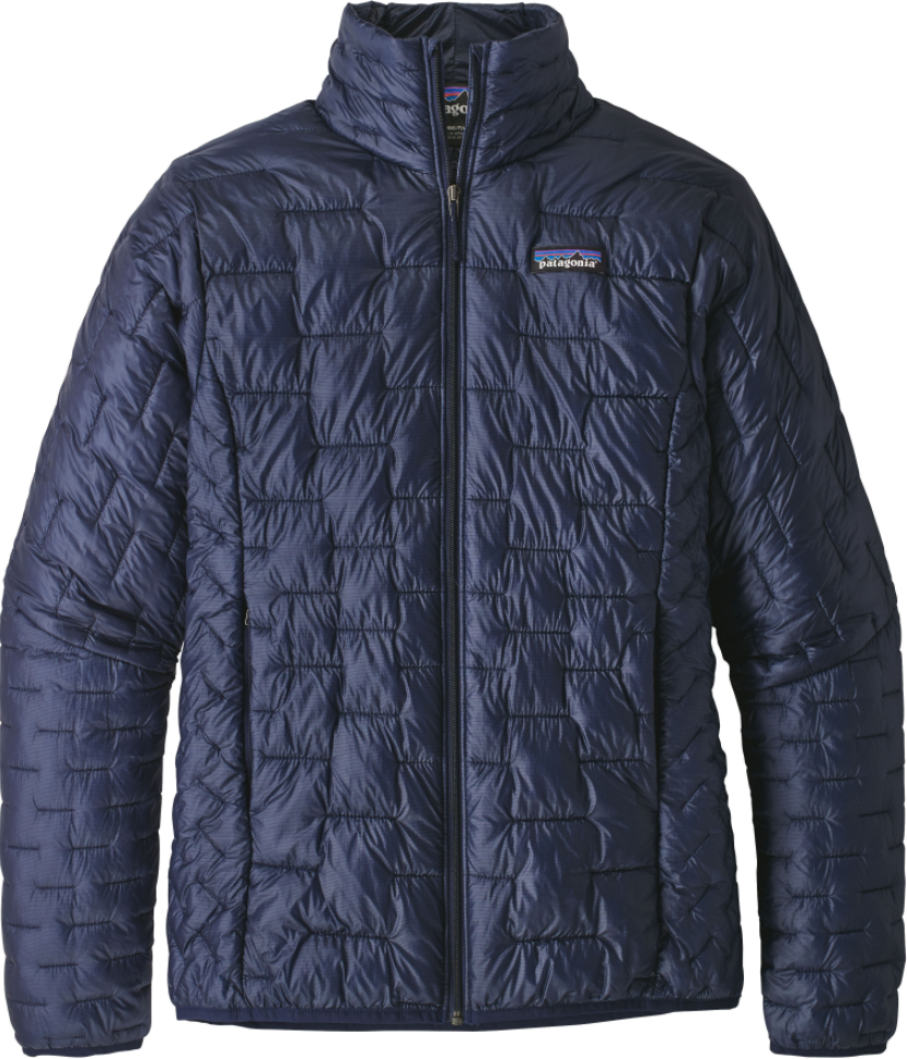 W's Patagonia Micro Puff Jacket in Classic Navy