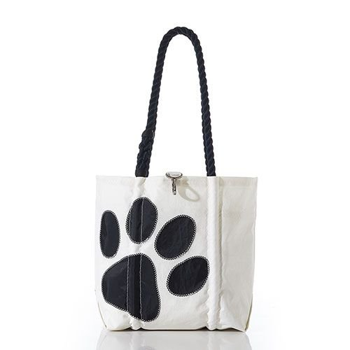 SeaBags Medium Tote - Paw Print with Clasp