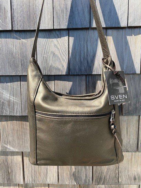 Sven USA 410 Zip Top Leather Hobo SALE