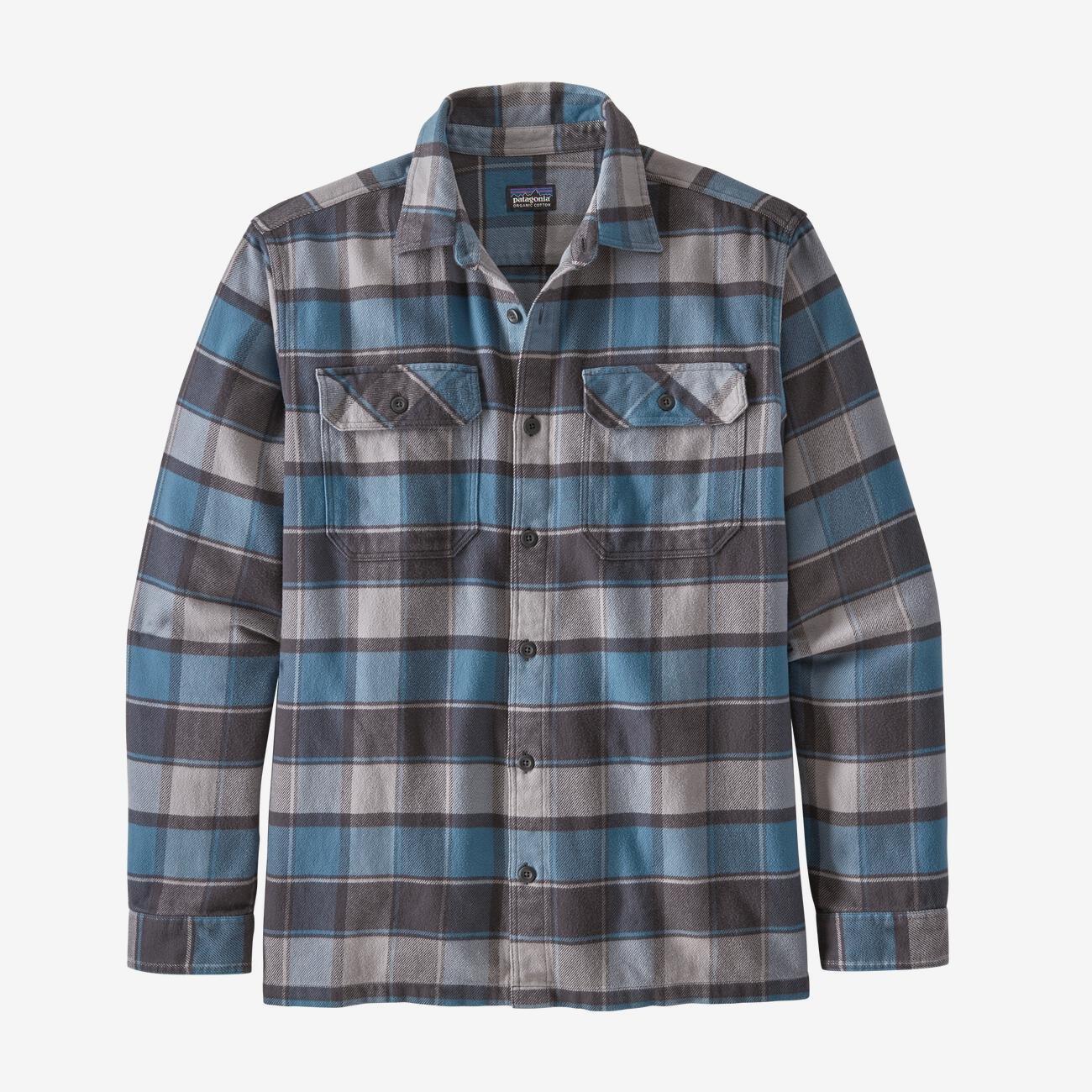 Men's Patagonia Fjord Flannel Shirt - Pigeon Blue
