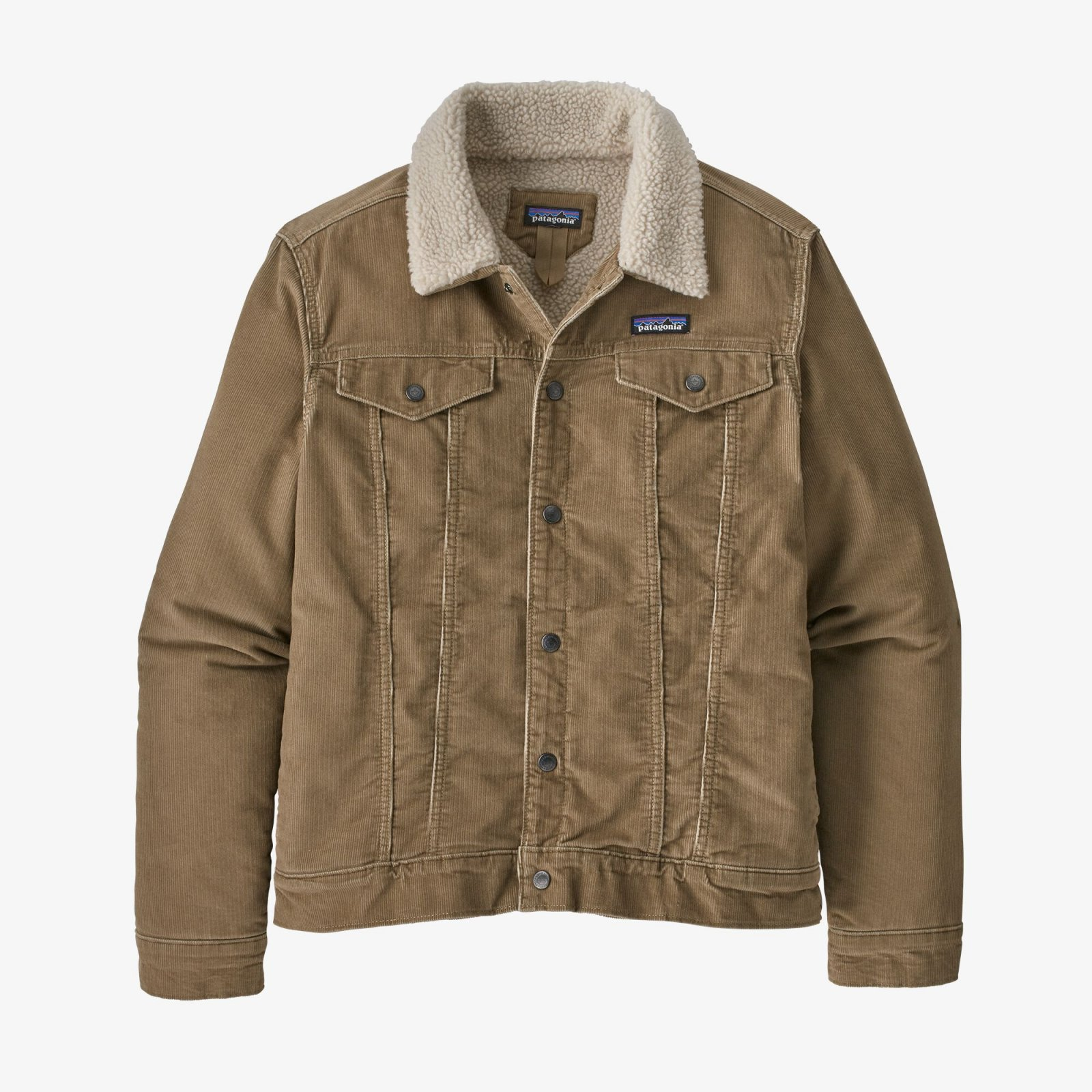 M's Patagonia Pile Lined Trucker Jacket in Mojave Khaki