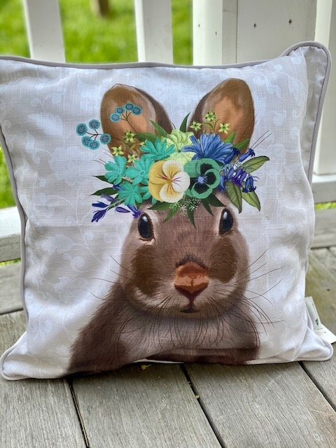 17x17 Decorative Pillow - Bunny