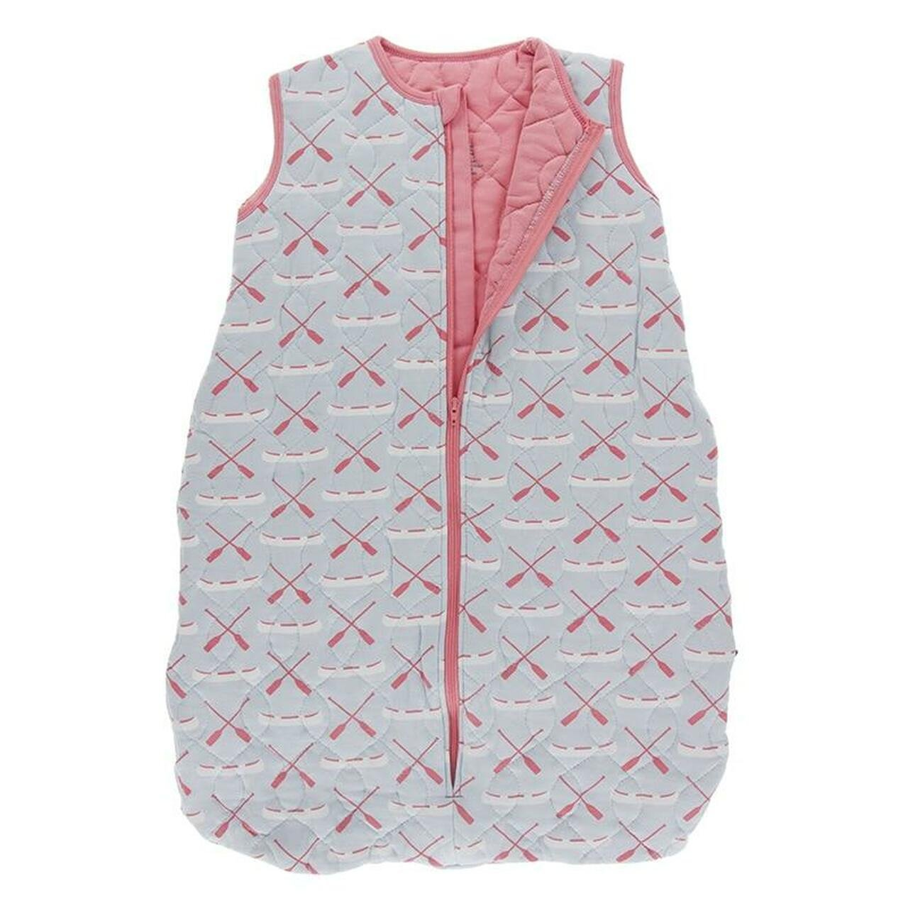 Bamboo Quilted Baby Sleeping Bag - Strawberry Canoe & Paddles