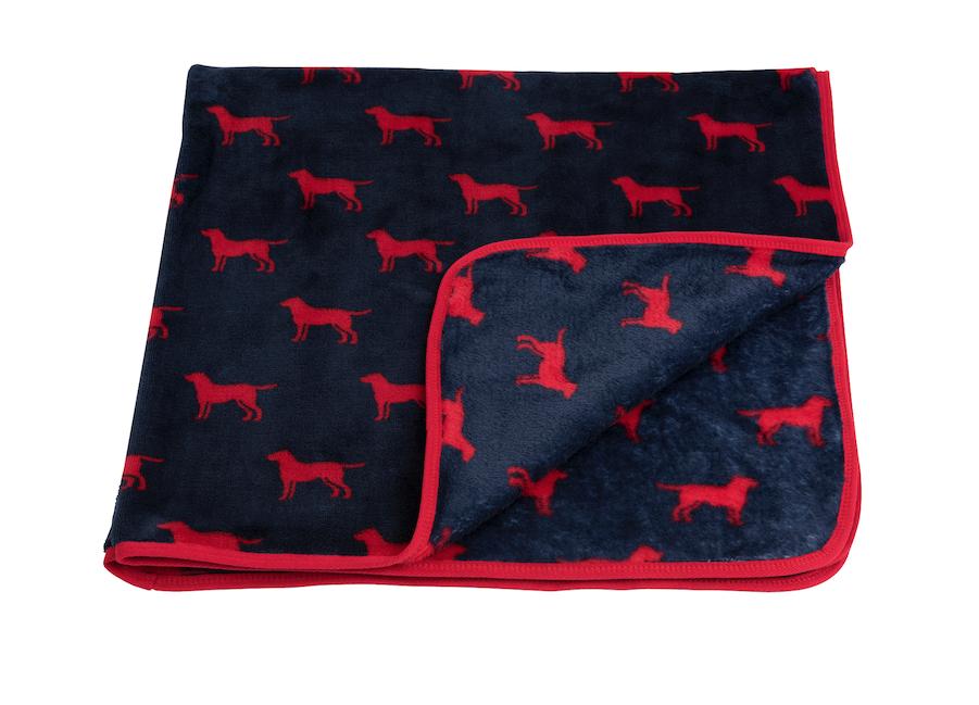 Hatley Red Labs Fuzzy Fleece Receiving Blanket SALE