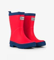 Boys Red & Navy Classic Rainboots