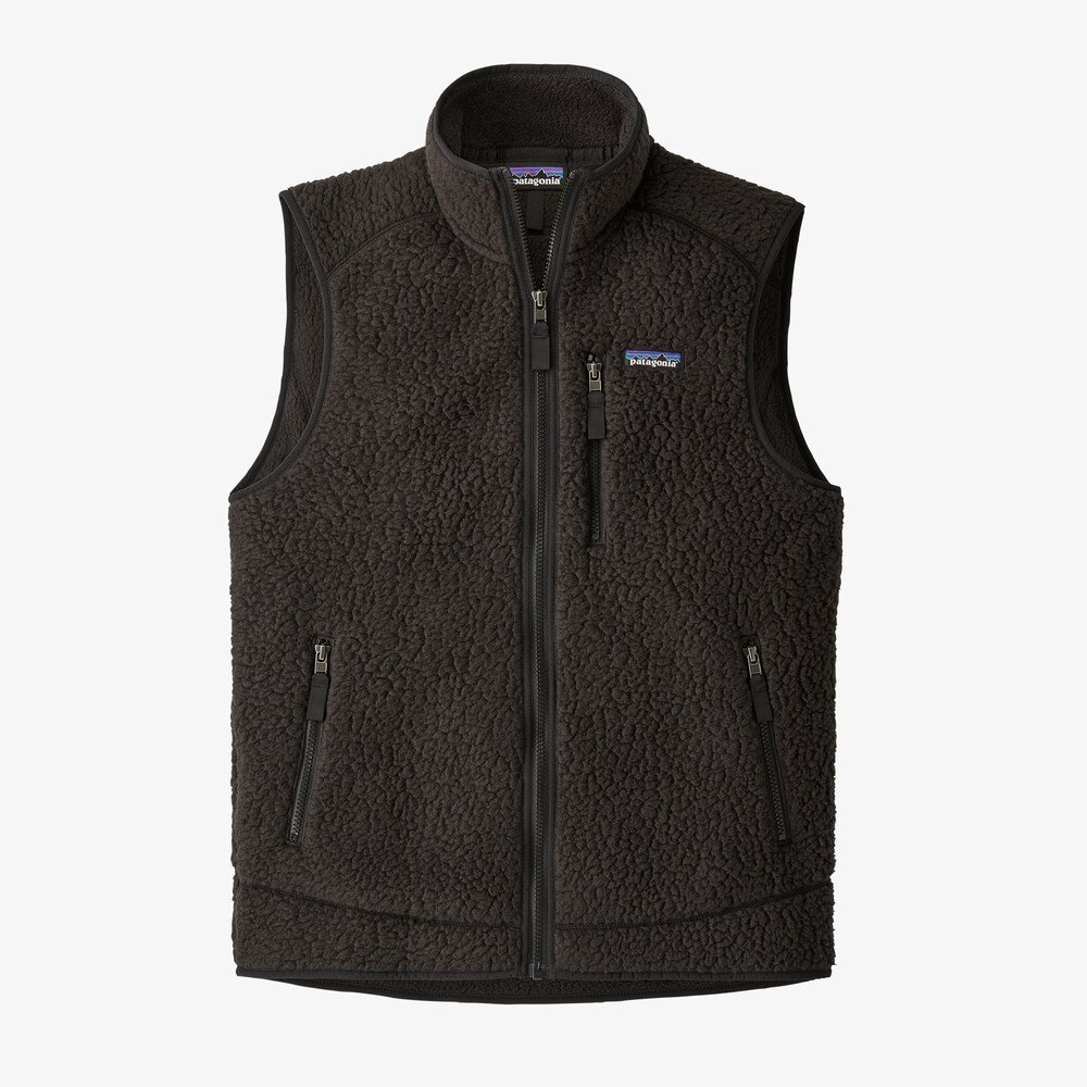 M's Patagonia Retro Pile Vest in Black