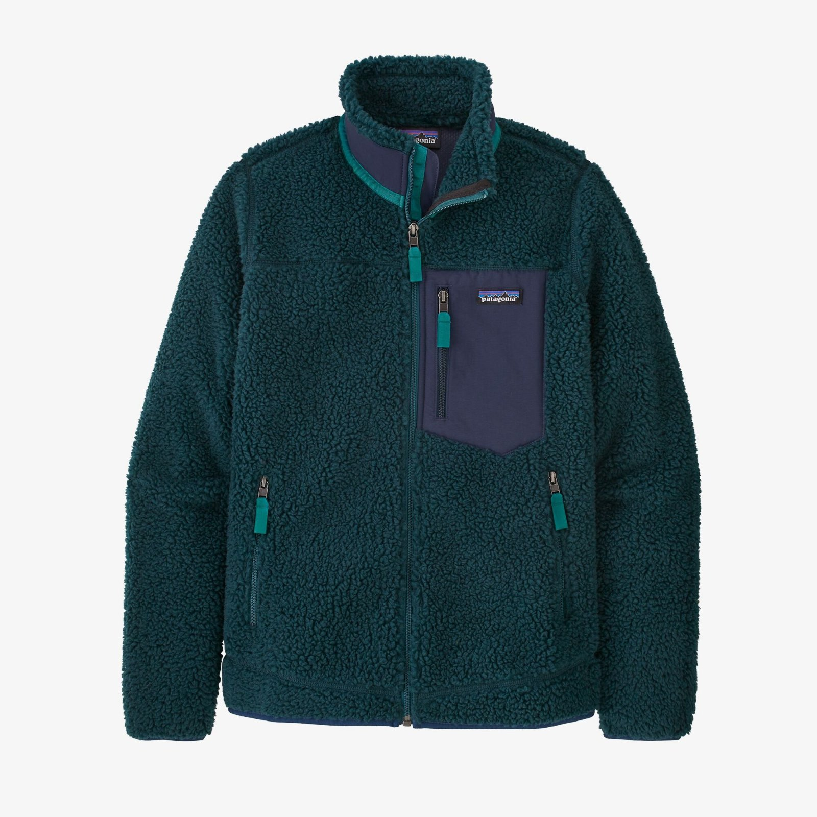 W's Patgonia Classic Retro X Jacket -  Dark Borealis Green