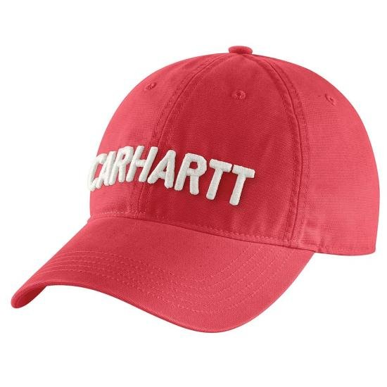 W's Carhartt Canvas Block Letter Cap - Rhubarb