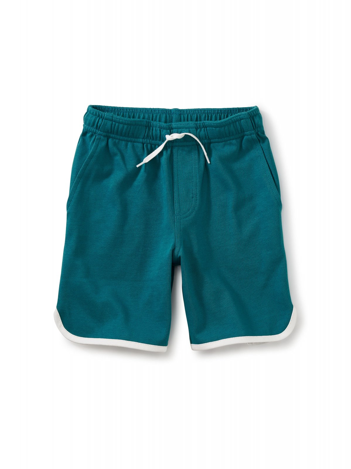 Kids Ringer Shorts in Scuba Blue by Tea Collection