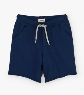 Boys Hatley Navy French Terry Shorts