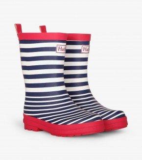 Boys Nautical Stripe Rain Boots