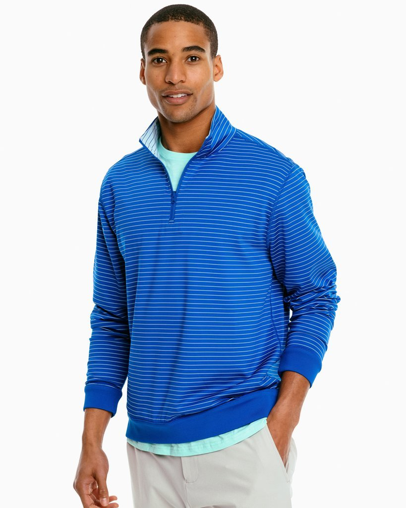 M's Sangrillo Reversible Striped Pullover by Southern Tide