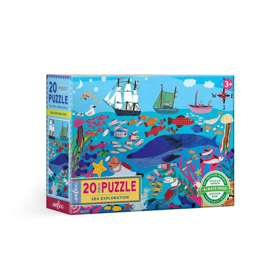 Eeboo 20 Piece Puzzle - Sea Exploration