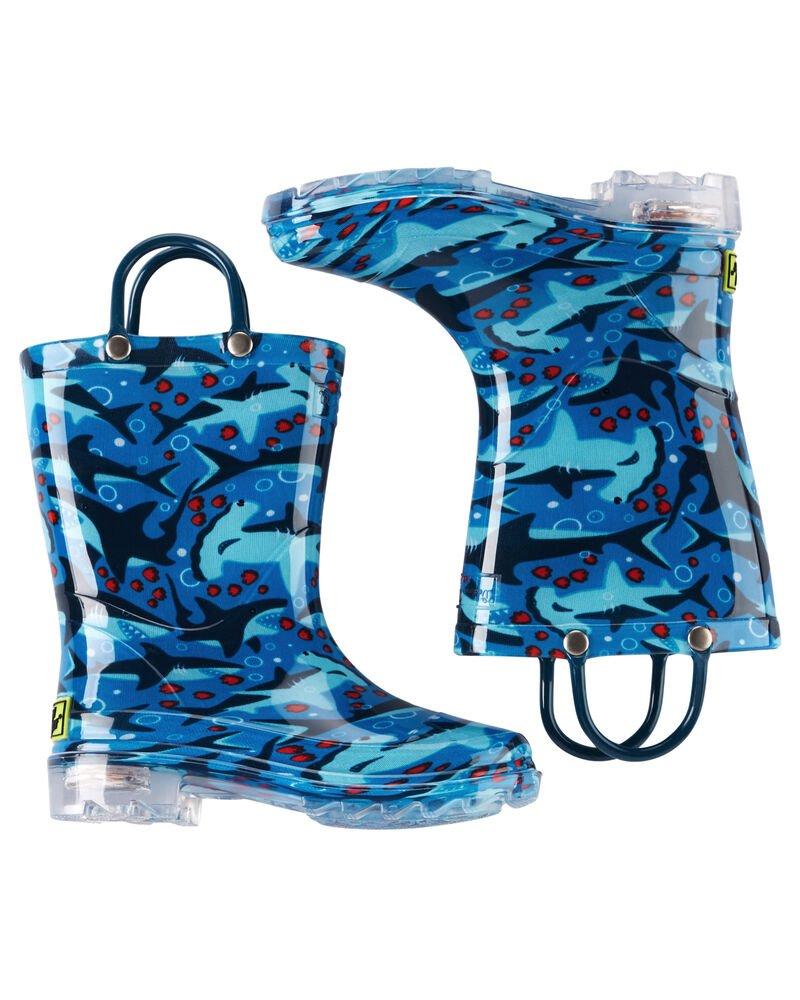 Children's Sharks Rainboot *Lights Up When Walking*
