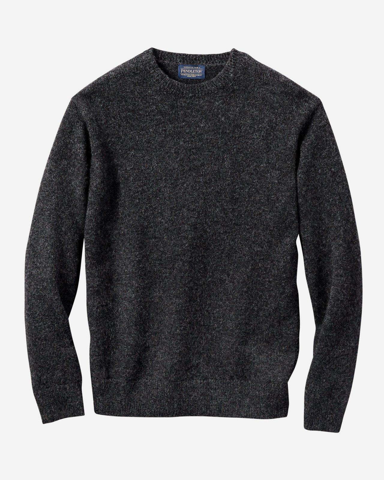 M's Pendleton Shetland Crew Sweater in Charcoal