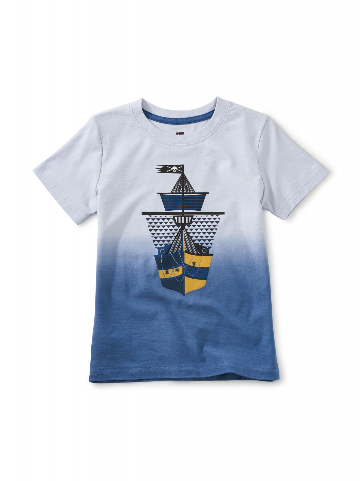Boy's Dip Dye Ship Shape Graphic Tee by Tea Collection