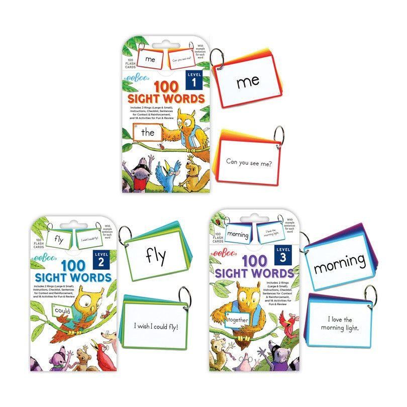 Eeboo Sight Words Flash Card Sets