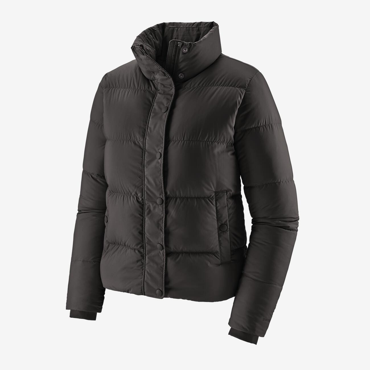 W's Patagonia Silent Down Jacket in Black