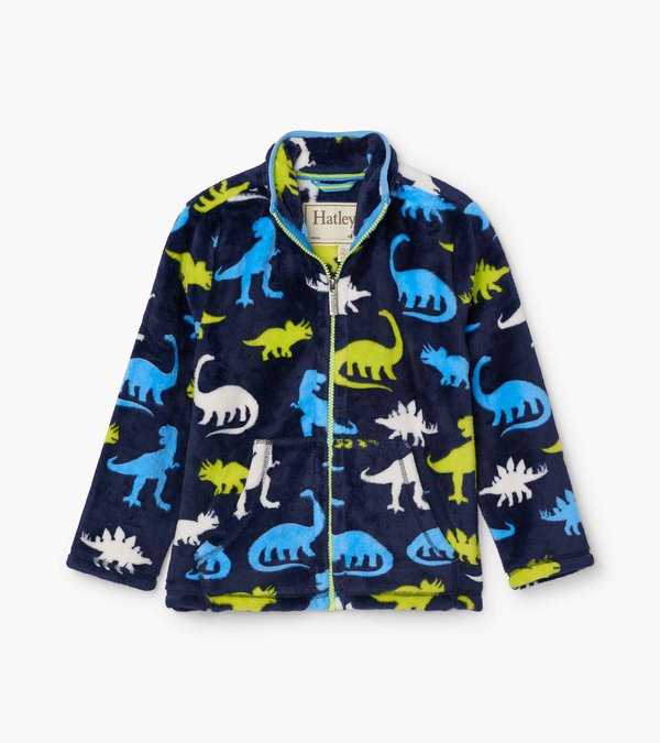 Silhouette Dinos Fuzzy Fleece Zip Up by Hatley