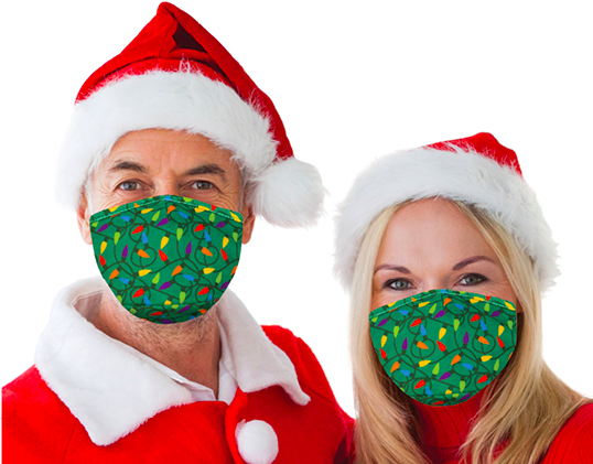 Christmas Lights Snoozies Adult Mask with Filters & Nosepiece