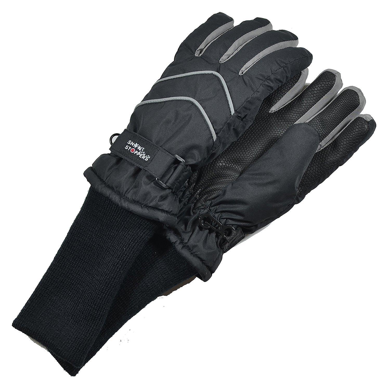 Kids Nylon Gloves in Black