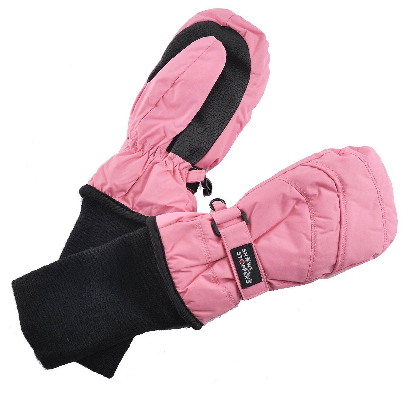 Kids Nylon Waterproof Mittens in Pink
