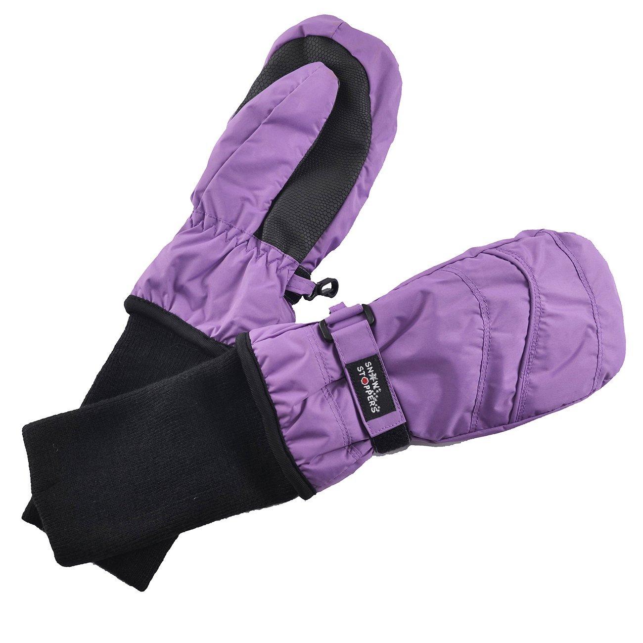 Kids Nylon Waterproof Mittens in Purple