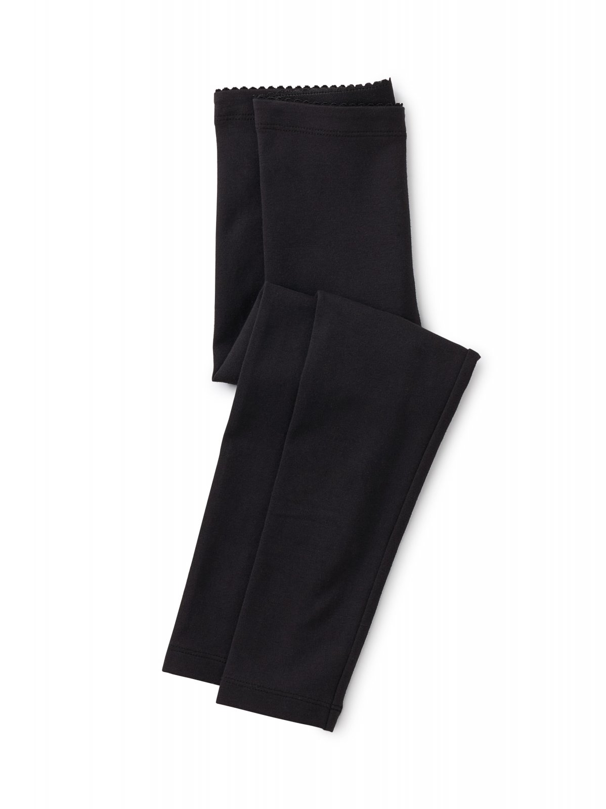 Girls Solid Leggings in Jet Black by Tea Collection