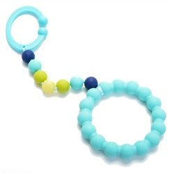 Silicone Car Seat or Stroller Toy & Teether (3 Colors Available)