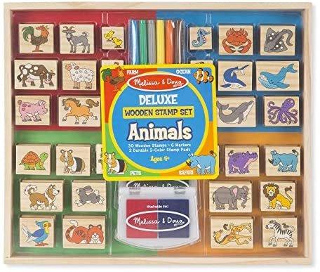 Deluxe Wooden Stamp Set Animals #2394 Melissa & Doug
