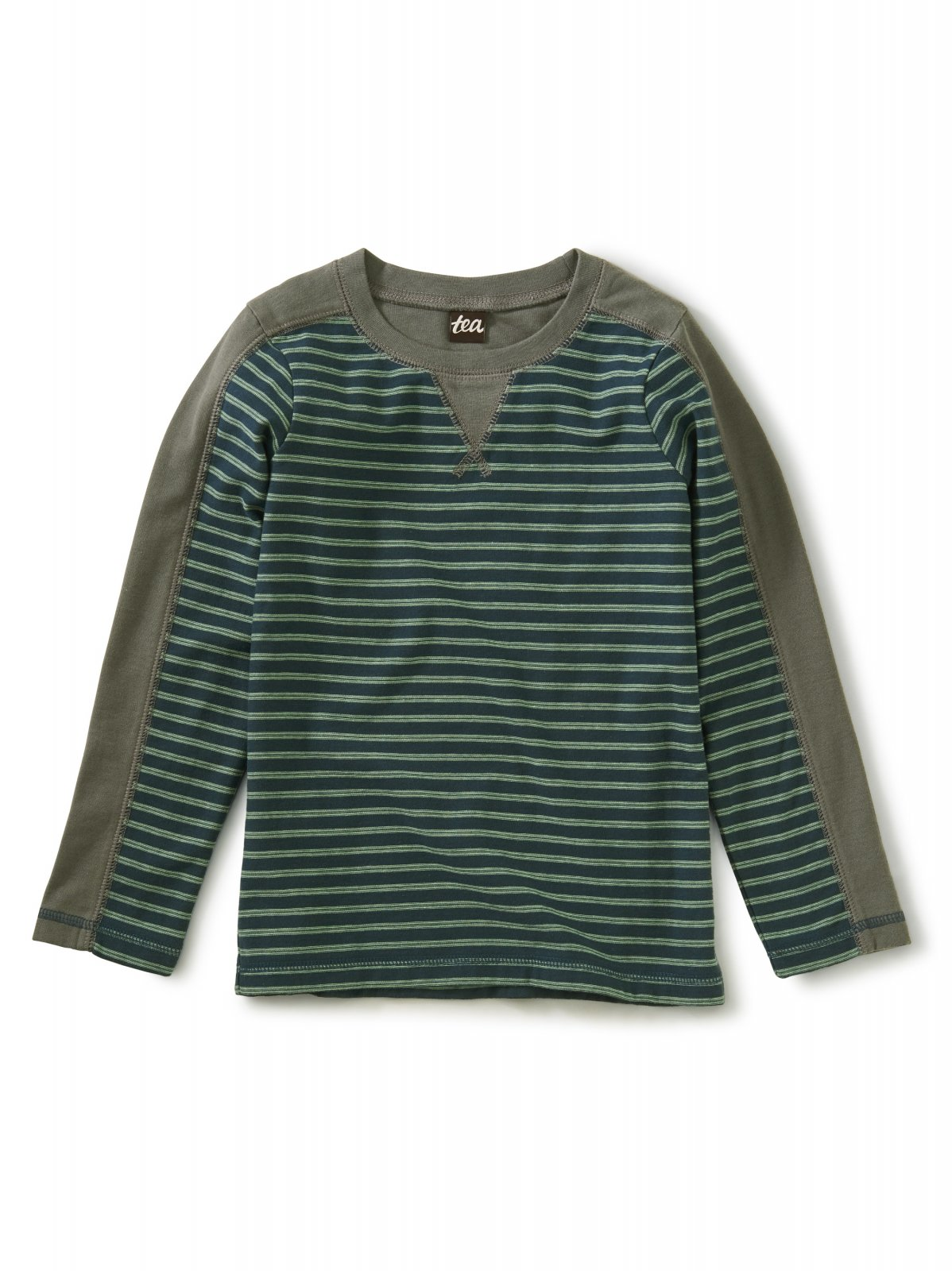 Striped Sporty Top in Bedford Blue by Tea Collection