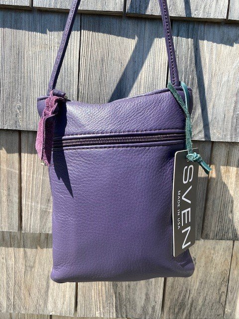 Sven USA 022 Small Zip Leather Purse - Aubergine SALE