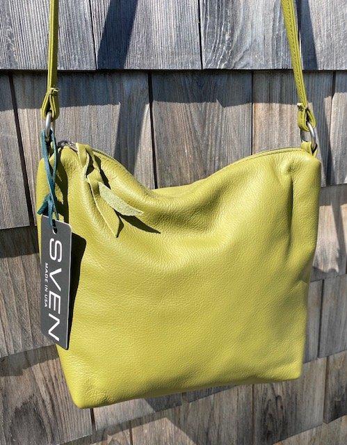 Sven USA 178 Medium Single Zip Leather Purse - Avocado SALE