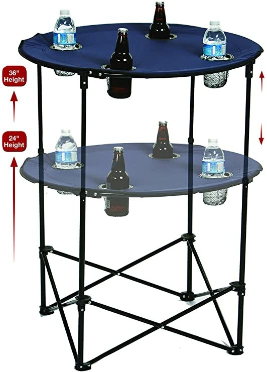 Adjustable Height Tailgate Table - Navy
