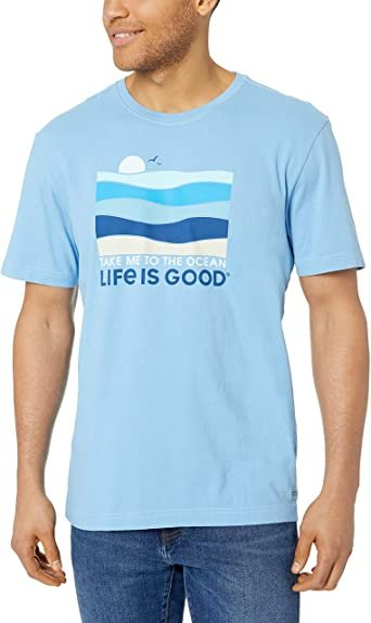 M's Life Is Good Take Me To The Ocean Tee - Light Blue