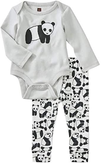 Tea Collection Bodysuit Baby 2 Piece Outfit Panda
