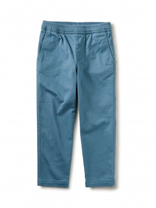 Boys Timeless Stretch Twill Pant - Aegean Blue by Tea Collection