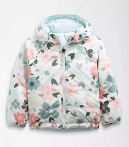 North Face Reversible Toddler Perrito Jacket - Ice Blue
