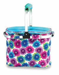 Collapsible Insulated Picnic Tote - Flowers