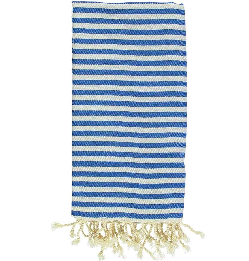 Antibes Turkish Towel in Royal Blue/ Wht. Stripe