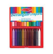 Triangular Crayons set (24) # 4136 Melissa & Doug