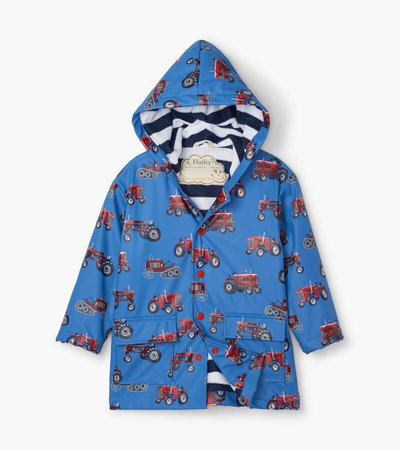Vintage Tractors Raincoat by Hatley