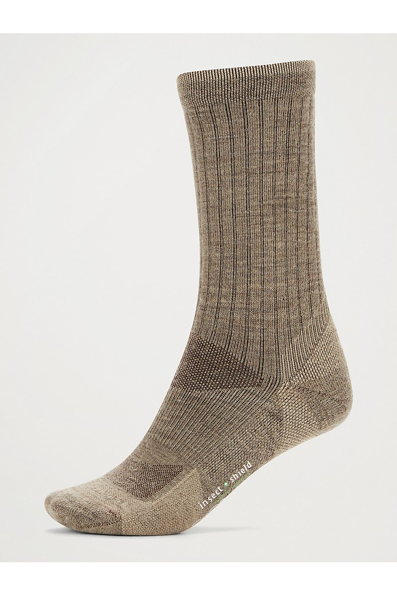 Men's BugsAway Solstice Canyon Crew Sock Walnut