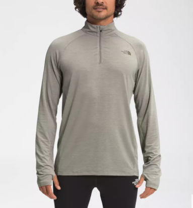 M's North Face Wander 1/4 ZIP in Mineral Grey Heather