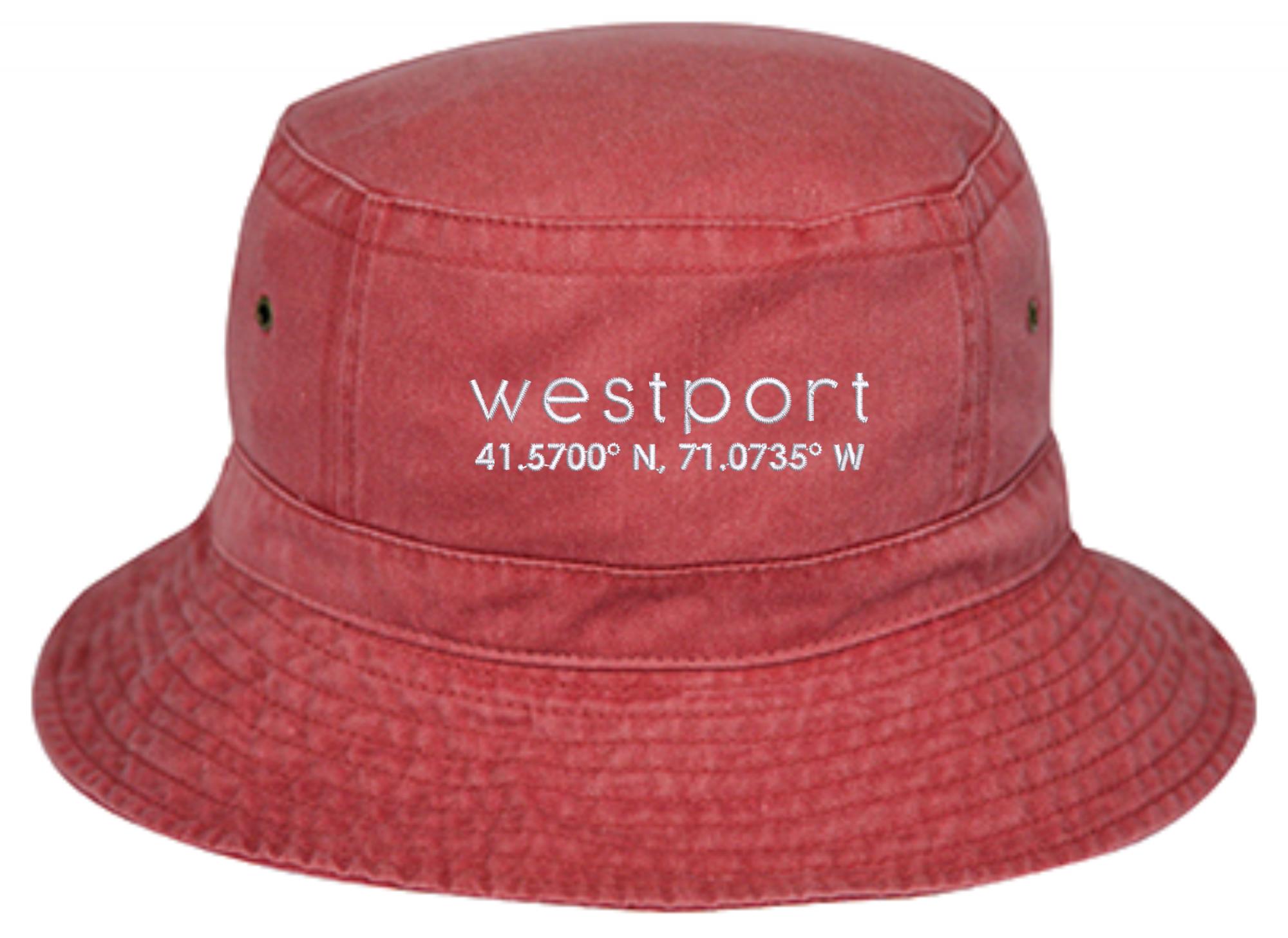 Westport Bucket Hat - Washed Red